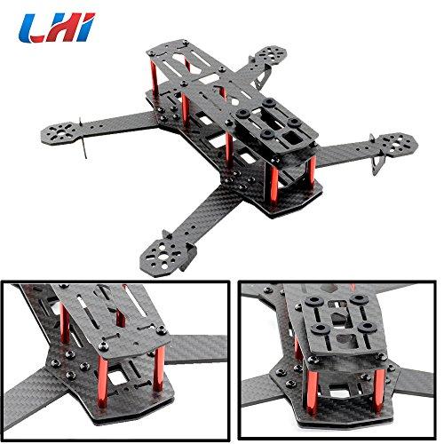 LHI QAV250 Pure Carbon Fiber Mini Quadcopter Race Copter Frame Kit ARF + CC3D Flight Controller + MT2204 2300KV Motor + Simonk 12A ESC + 5030 Propellerotor + Simonk 12A ESC + 5030 propeller - 5