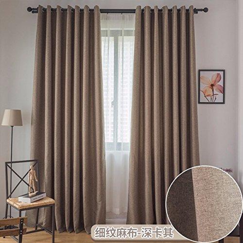Tende bene, lino cotone colore tende di lebbra completo isolamento di ombreggiatura salotto camera moderno minimalista di atterraggio,f,250 x 270 cm (w x h) x 2,