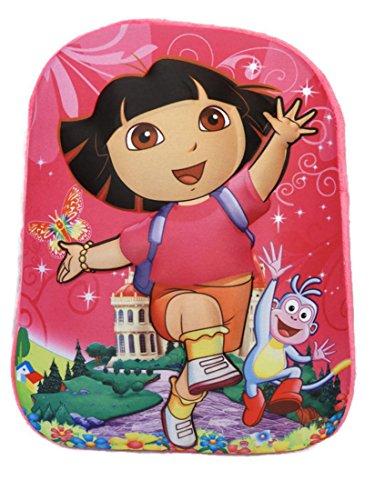 iQkids Pink Colour Backpack Bag Shoulder Bag School Bag Preschool Bag Toddler Bag Kindergarten Bag 3D Image Embossed Cartoon Light Weight Soft Material Both for Boys and Girls Play School Bag