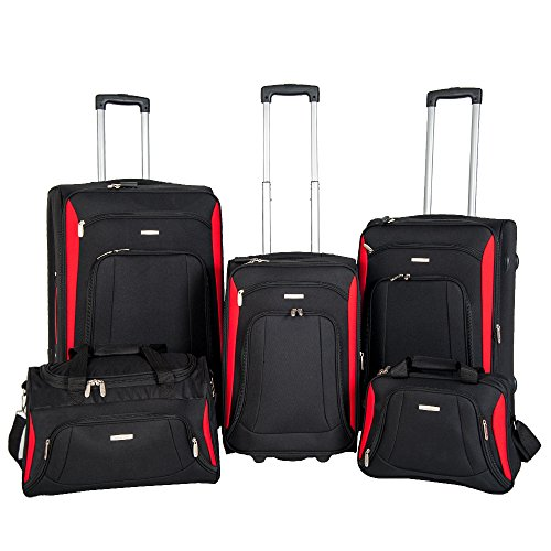 NEWEST Super Lightweight 2 Wheel Spinner 5 piece set Suitcase Luggage Sets flight bag travel bag trolley cases-15