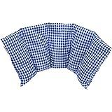 Almohada Termica 50x20 cm - Hecho en Alemania - Relleno: 800 Gramos de Huesos de Cereza. Forro: 100% Algodón - (Azul L)