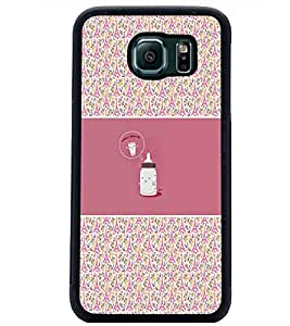 PrintDhaba Funny Image D-4156 Back Case Cover for SAMSUNG GALAXY S6 (Multi-Coloured)
