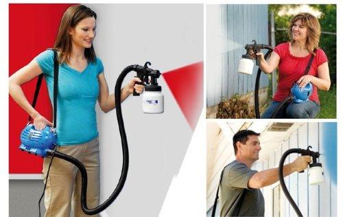 paintzoom Paint Zoom pistola pulverizadora para barnizar con compresor a correa