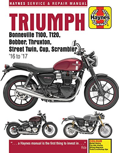 Triumph Bonneville, T100, T120, Bobber, Thruxton, Street Twi (Haynes Service and Repair Manual) por Matthew Coombs