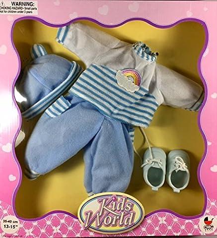 Kids World Puppen-Kleider Sets mit Schuhen und Accessoires in der
