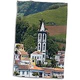 3dRose Horta Village, Faial Azores Islas, Portugal, North Atlantic Ocean Toalla, Blanco