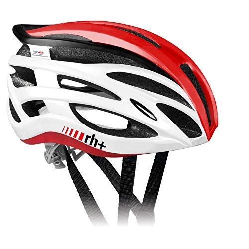 RH+ Casco Bike Z2IN1 White-Shiny Red L/XL Unisex Adulto