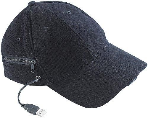 ED-Baseball-Cap mit 2 wiederaufladbaren Mini-Akkus (Basecap mit LED) ()