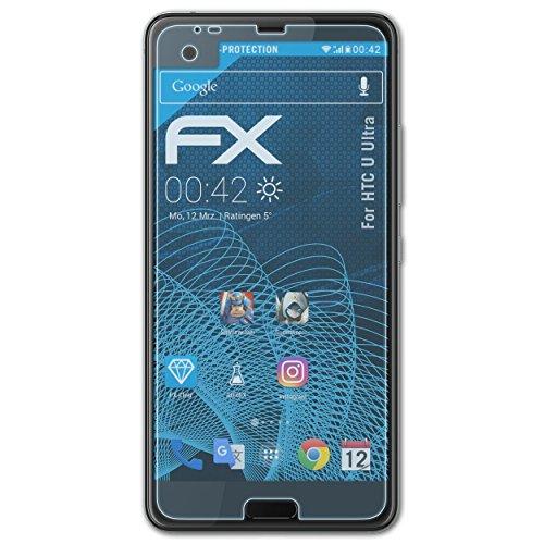 atFolix Schutzfolie kompatibel mit HTC U Ultra Folie, ultraklare FX Displayschutzfolie (3X)