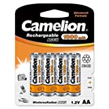Camelion HR6 1.2 V 1800 mAh AA Mignon Nickel Metal Hydride Rechargeable Battery (Pack of 4)