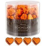 150 orange Schokoladen Herzen Lissabon