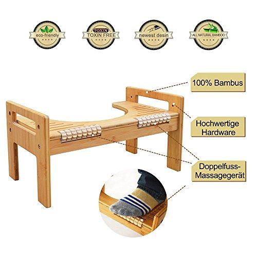 Mallboo Fußschemel / Hocker für die richtige Haltung beim Stuhlgang gegen gesunde Sitzhaltung auf der Toilette - gegen Hämorrhoiden und Verstopfung (Bootie Verstellbare)