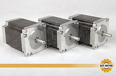 ACT Motor GmbH 3PCS Nema23 Stepper Motor 23HS8430 Schrittmotor 3.0A 76mm 1,9Nm CNC industrielle Automation Maschinen