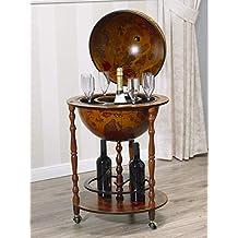 Simone Guarracino Bartisch Coloniale oval Flaschenregal Vitrine Englischer Stil Teetisch walnuss