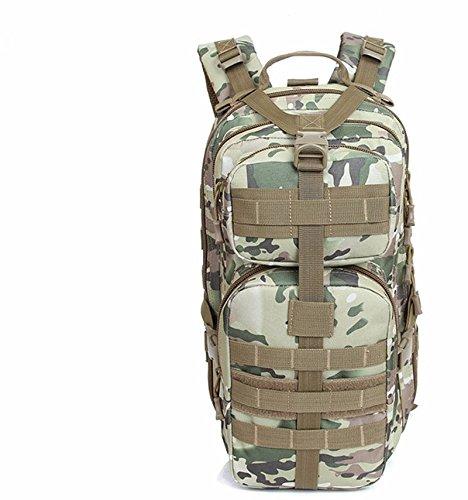 Alpinismo Outdoor sacco 30L maschio e femmina camuffamento impermeabile ride double borsa a tracolla 44*24*11cm, deserto digital 20-35 litri CP Camouflage 20-35L