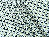 mollipolli-Stoffe Jerseygrün gelbe Tropfen auf hgrau