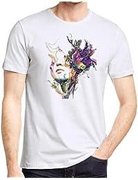 Camisetas Blancas Hombre Manga Corto LHWY, Camisetas Talla Grande De Cuello Redondo con Estampado De PiñA Suelto…
