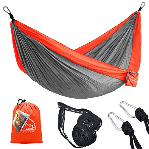2 Person Two-person Outdoor Furniture Survivors Camping Travel Hammock Xl 10 Feet Nylon Ultralight Portable Folding Hammock Making Things Convenient For The People Furniture