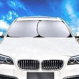 Auto Sonnenschutz Frontscheibe Schutz 2 Stück Windschutzscheibe Sonnenblende Maße 70 X 78.5 cm, Groß Für PKWs und SUVs