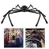 BESTOMZ Halloween Spinne 125cm Mit LED Roten Augen Halloween Deko