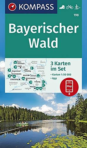 Bayerischer Wald: 3 Wanderkarten 1:50000 im Set inklusive Karte zur offline Verwendung in der KOMPASS-App. Fahrradfahren. Skitouren. (KOMPASS-Wanderkarten, Band 198)