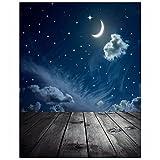 #10: SLB Works Photography Background Moon Star Baby Theme Photo Studio Backdrop Props N8E U0L4