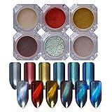 NICOLE DIARY 6 scatole 3D occhiali da polso per unghie magnetiche per unghie artigianali (6 colori)
