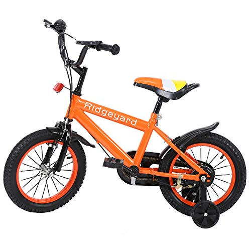 MuGuang 14 Pulgadas Bicicleta Infantil Estudio Aprendizaje Montar a Caballo Bicicleta niños...