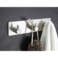 Togu gancio adesivo con resistente in acciaio inox per appendere asciugamani/borsa/Cappotto/Cappello/Chiavi, Organizer, per bagno e cucina, spazzolato