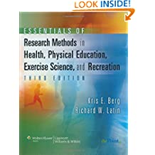 Essentials of Research Methods in Health, Physical Education, Exercise Science, and Recreation (Point (Lippincott Williams & Wilkins))