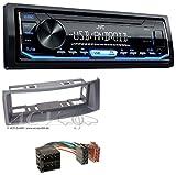 JVC KD-X151 1DIN USB Aux MP3 Autoradio für Renault Megane Scenic Classic Cabrio Grandtour