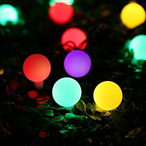 Solar Outdoor String Lights,30 LED Waterproof LED Ball Lights for Garden, Christmas Decor,Party,Wedding,Tree,Patio,Yard,Home (multi,
