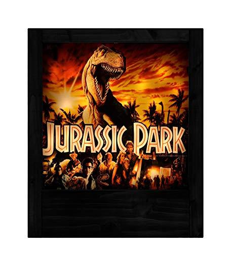 Schwarze Holzlampe Jurassic Park -