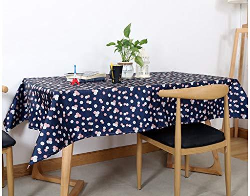 NNPE (TLMT) Verdicken Sie die Tischdecke Tischdecke rechteckig gedruckt pastoralen wasserdicht Tee Tisch Pad Tuch Anti-Hot Wash Einweg (Size : 100 * 140cm) -