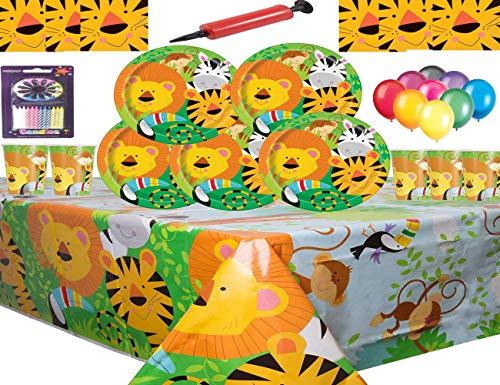Jungle Animal Party Supplies Vajilla 16 Niños Fiesta