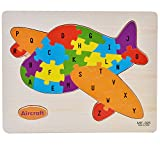 Baybee Premium Counting Cartoon Animal Wooden Letters Jigsaw Puzzles,Family Game for Kids,Interactive Educational Toys for Baby Preschool Toddler Boys Girls Assorted Colour ( Pack of 2 )