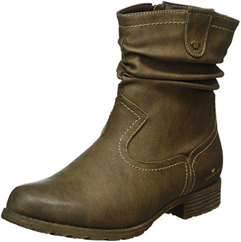 Tom Tailor - 8599903, Stivali a metà gamba con imbottitura pesante Donna Marrone (Marrone (tortora))
