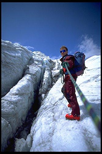 599046 European Freestyle Ski Champion Sewald Ice climbing A4 Photo Poster Print 10x8 (Freestyle-ski-poster)