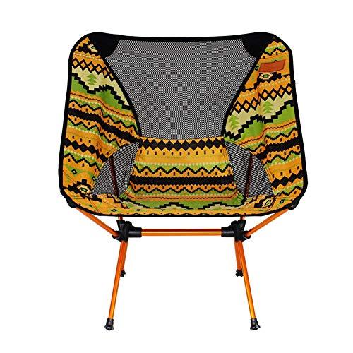 332pageann - sedia da pesca emisferica, pieghevole, all'aria aperta, colorata, per spiaggia, campeggio, picnic, campeggio, casa, terrazza, facile da trasportare, giallo