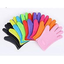 Silikon Handschuhe verdicken rutschfest Mikrowelle Handschuhe Wassdicht Hitzebeständige Backofen Handschuhe 1pcs
