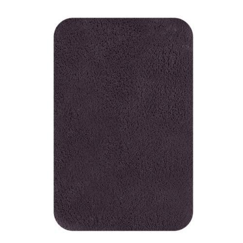 Spirella 100 por ciento algodón California alfombra de baño, negro