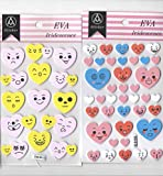 PPM Heart Shaped Eva Foam Sticker Self Adhesive Pack of 2 Packets for Art and Craft/Art and Craft Supplies/Art and Craft Material