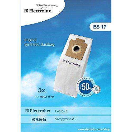 Electrolux ES17 Accessoires Aspirateur 5 Sacs Synthétique + 1 Filtre Moteur