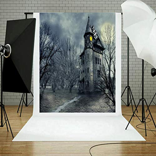 (Y56 Halloween Fotografie Hintergrund Backdrops Kürbis Vinyl 5 x 3FT Laterne Hintergrund Fotografie Studio Custom Photo Requisiten)