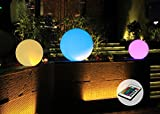 LED Kugel Groß Ø 30cm Farbwechsel Fernbedienung Leuchtkugel Garten Deko Innen Außen