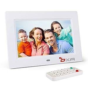OXA 7 Pollici Cornice Foto Digitale 4G di Memoria Lettore MP3 e Video (Bianco)