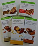 Herbalife Austria, 3 x Proteinriegel und 2 x F1 Express Riegel (Geschenk-Set), 14 Protein Riegel x 35 g - Vanille-Mandel Geschmack - 490 g, 14 Riegel x 35 g - Schoko-Erdnuss Geschmack - 490 g, 14 Riegel x 35 g - Zitrone Geschmack - 490 g, Formula 1 Express Riegel Rote Beeren und Joghurt - 7 Riegel - 56 g, HERBALIFE Formula 1 Express Riegel Schokolade - 7 Riegel - 56 g