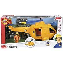 Sam el Bombero - Helicóptero Wallaby con figura, 34 cm (Simba 9251002)