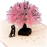 Pop Up 3D Karte Grußkarte für viele Gelegenheiten Valentinstag Hochzeitstag Hochzeit Jahrestag Geburtstag Geschenkkarte Faltkarte
