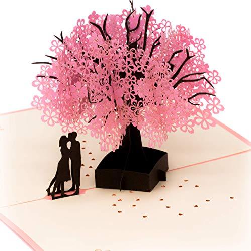 Popup - biglietto tridimensionale di auguri per molte occasioni, per san valentino, matrimonio, anniversario, biglietto di compleanno o regalo di amicizia